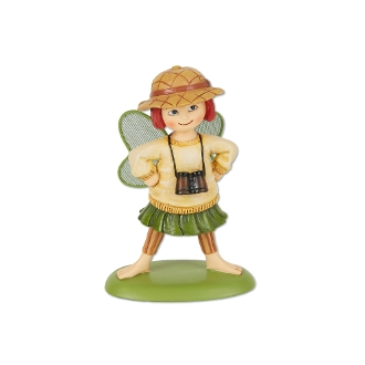 Gigi the Explorer Fairy for Merriment Miniature Fairy Gardening