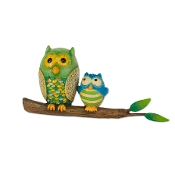 Owls on Branch for Merriment Miniature Fairy Gardening