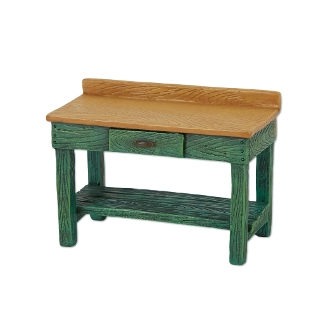 Sale - Green Potting Bench for Merriment Miniature Fairy