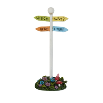 Sale - Which Way Sign for Merriment Miniature Fairy Gardening
