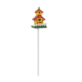 Yellow Cherry Birdhouse for Merriment Mini Fairy Gardening