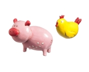 Pig and Chicken Set for Miniature Fairy Gardens - EXCLUSIVE