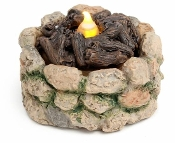 Cobblestone Lighted Firepit For Miniature Fairy Gardens