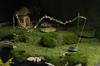Solar Light Rope w/Foliage For Miniature Fairy Gardens
