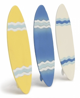 Set of 3 Surfboards For Miniature Fairy Gardens