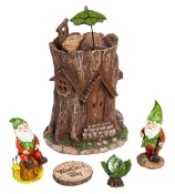 A Gnomes Work Is Never Done for Miniature Gardens - EXCLUSIVE