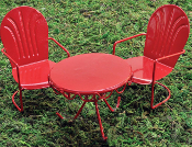 Fairy Red Retro Bistro Set (2 Chairs and 1 Table)