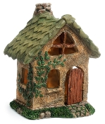 Leaf Fairy House w/Swinging Door For Miniature Gardens