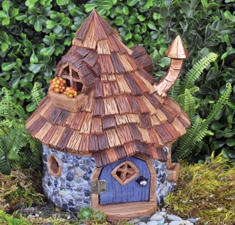 Shingleton Cone Top Fairy House for Miniature Gardens