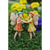 Sadie and Mia the Fairies For Miniature Gardens