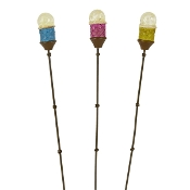 Set/3 Tiki Torches *GLOWS* for Gypsy Miniature Fairy Gardens
