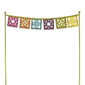 Sale - Fiesta Flag Banner for Miniature Gypsy Fairy Gardens
