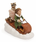 Taylor and Coon Sledding Fairy For Miniature Fairy Gardens
