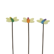Set/3 Dragonfly Glow In Dark Picks For Gypsy Fairy Gardens