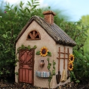 Fairy Workshop with Hinged Door for Miniature Fairy Gardens