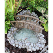 Crooked Creek Pond with Bridge for Miniature Fairy Gardens