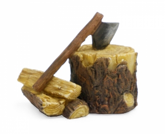 Firewood and Ax for Miniature Fairy Gardens