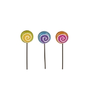 Set/3 Magical Lollipop Picks for Gypsy Fairy Gardens
