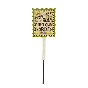 One's Own Happiness Garden Sign for Merriment Fairy Gardening