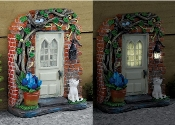 The Rectory Solar Fairy Door for Miniature Fairy Gardens