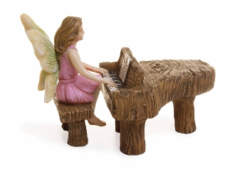 Fairy Playing of a Piano For Miniature Fairy Gardens