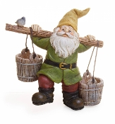 Cale the Gnome with Buckets For Miniature Fairy Gardens