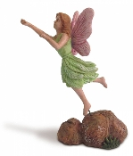 Fairy Ready To Take Flight For Miniature Fairy Gardens