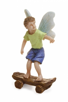 Skateboard Boy Fairy for Miniature Fairy Gardens