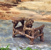 Courting Twig Bench for Miniature  Fairy Gardens