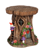 "Large 12.25"" Solar Tree Stump ""Statement Piece"" - EXCLUSIVE"