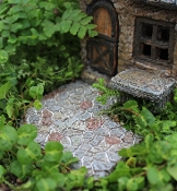 Curved Angle Cobblestone Walkway For Miniature Fairy Gardens