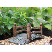 Wooden Arched Rustic Bridge For Miniature Fairy Gardens