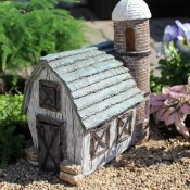 Fairy Stables Barn and Silo For Miniature Fairy Gardens