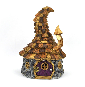Wizard Fairy House With Twisted Roof For Miniature Fairy Gardens