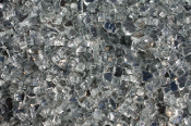 Reflective Silver Ice Glass Chips / Miniature Fairy Garden-12oz