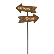 Enchanted Forest Metal Sign For Gypsy Fairy Gardens