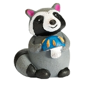Raccoon with Mushroom Toadstool For Gypsy Fairy Gardens
