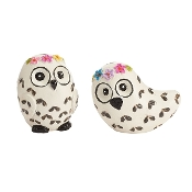 Set/2 Snow Owls For Gypsy Fairy Gardens