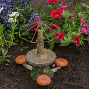 Toadstool Table with Umbrella For Miniature Fairy Gardens