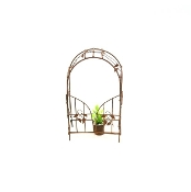 Rusty Garden Arch With Swinging Door for Miniature Fairy Gardens