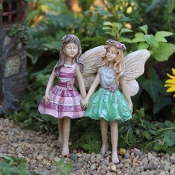 Addie & Maddie The Fairies for Miniature Fairy Gardens