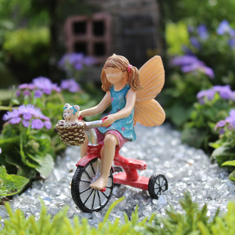 Lizzie's Day Out on Trike for Miniature Fairy Gardens