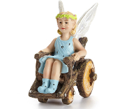 Klara, Fairy in Wheelchair,  for Miniature Fairy Gardening