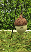 SALE! Acorn Birdhouse on Hook for Miniature Fairy Gardens