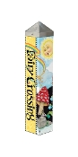 "20"" FAIRY CROSSING Art Pole Accent For Your Yard & Garden"