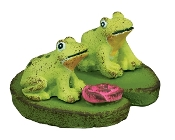 Frogs on Lily Pad for Gypsy Miniature Fairy Gardens