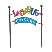 Ladybug Crossing Metal Sign for Gypsy Miniature Fairy Gardens