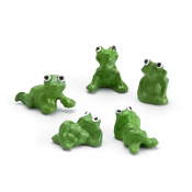 Set/5 Miniature Accent Frogs for Miniature Fairy Gardens