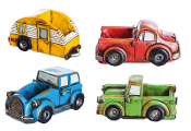 Set/4 Fairy Truck Planter Accents for Miniature Gardens