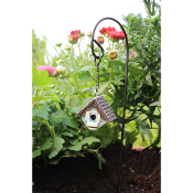 Birdhouse with Hook Stand for Miniature Fairy Gardens